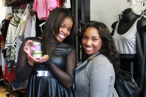 Carla poses with Hazel, creator of the Krushed Velvet Candles