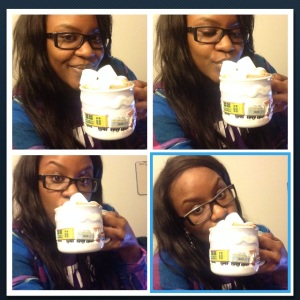 "Me and the bae chilling and staying warm #HotChocolateFlow *""Bae"" no where to be found in photo"